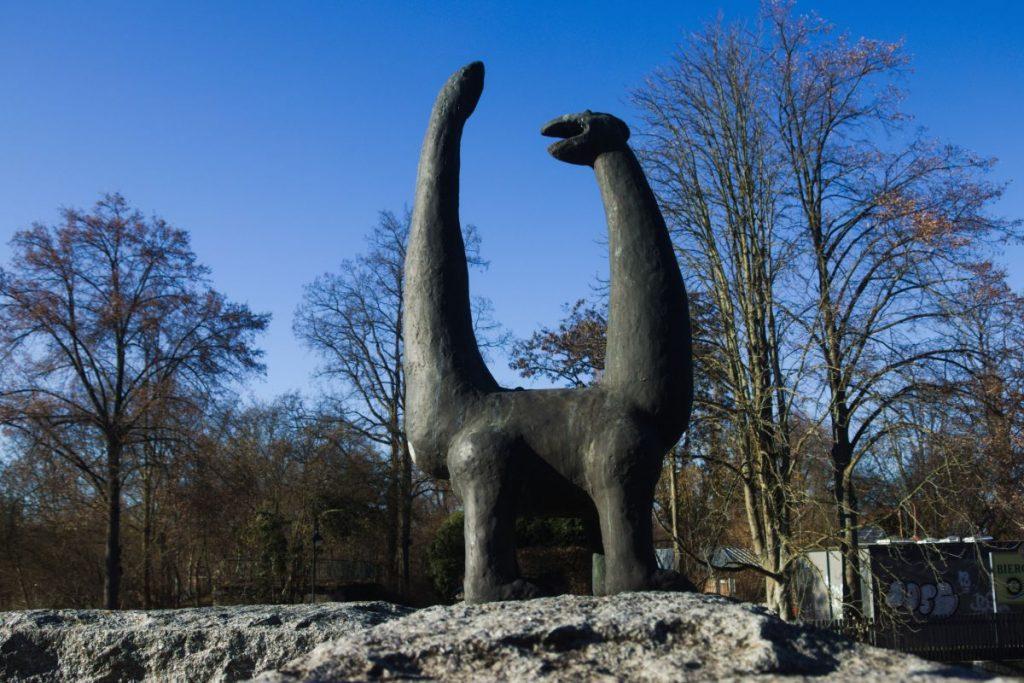 Kleine Statue an der Naab in Schwandorf